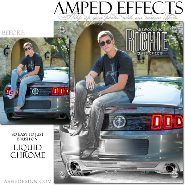 Ashe Design | Amped Effect Templates | Liquid Chrome example 1