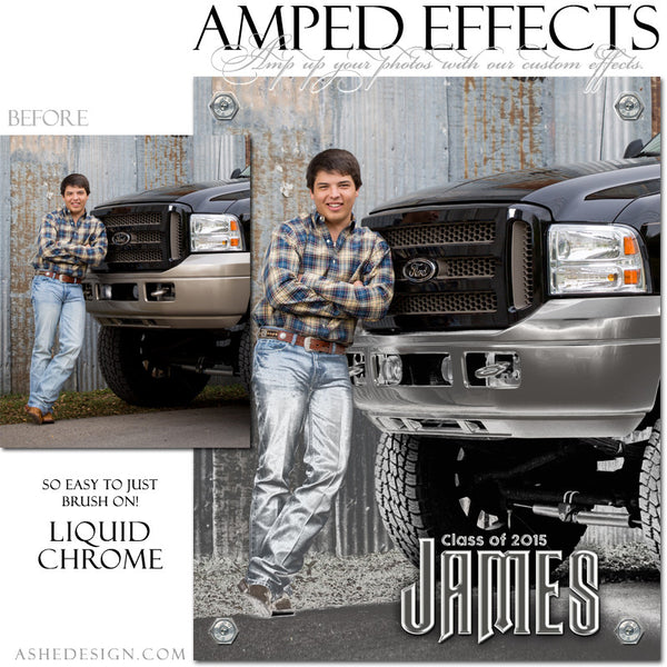 Ashe Design | Amped Effect Templates | Liquid Chrome example 4