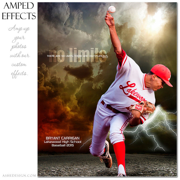 Ashe Design | Amped Effects Sports Templates | No Limits baseball