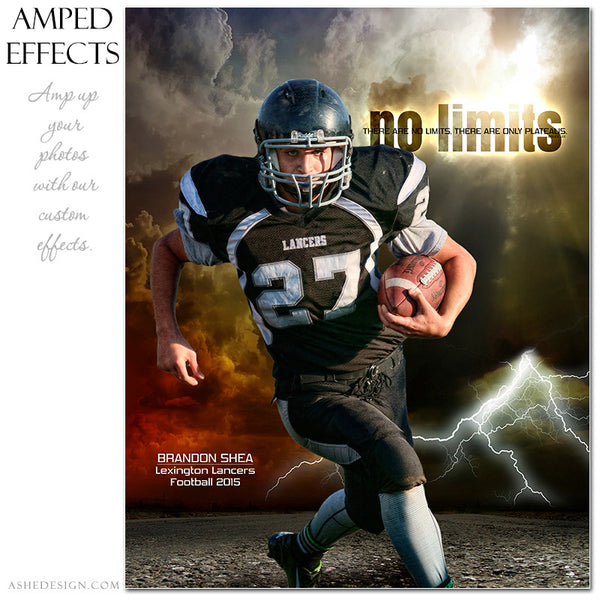 Ashe Design | Amped Effects Sports Templates | No Limits football