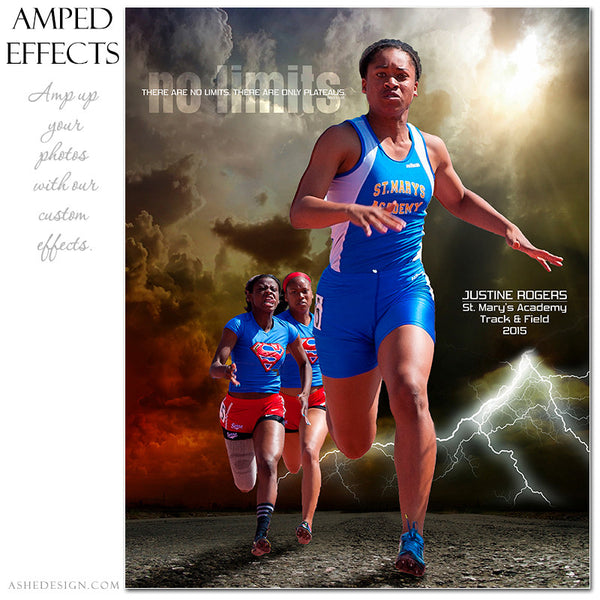 Ashe Design | Amped Effects Sports Templates | No Limits running