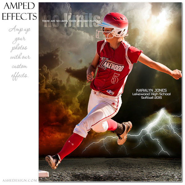 Ashe Design | Amped Effects Sports Templates | No Limits softball