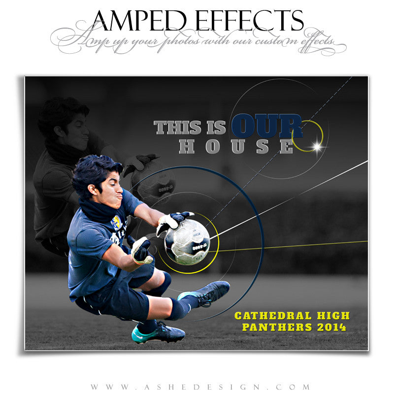 Ashe Design | Amped Effects Sports Templates | Our House 1