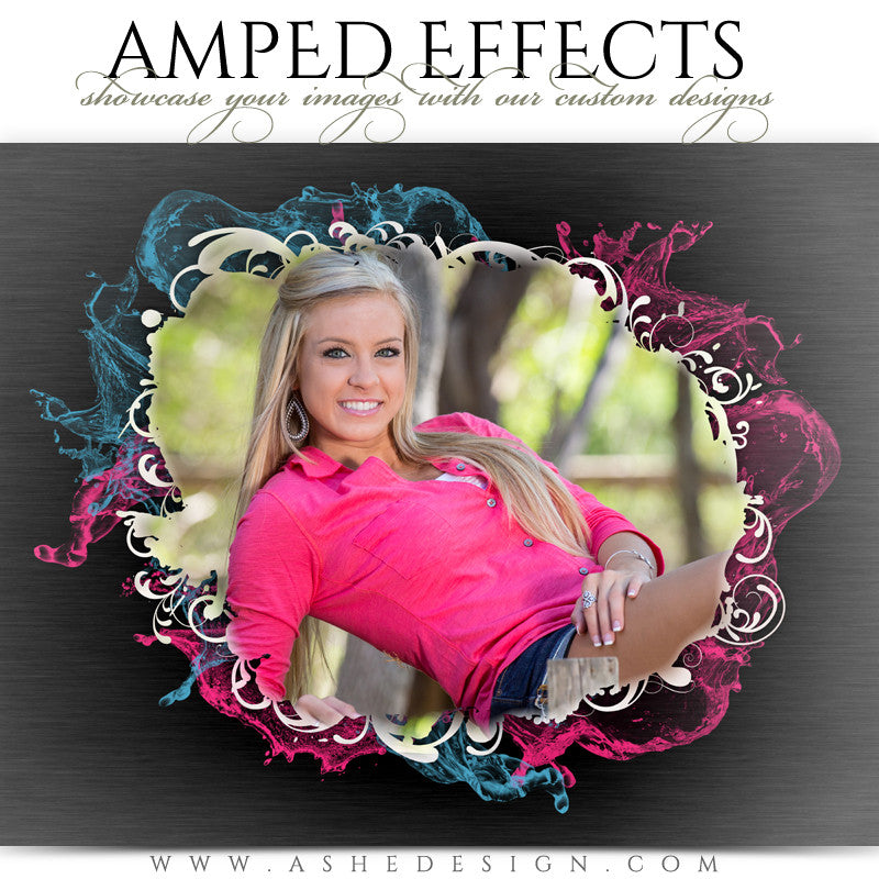 Ashe Design | Amped Effects Photography Templates | Color Splash1