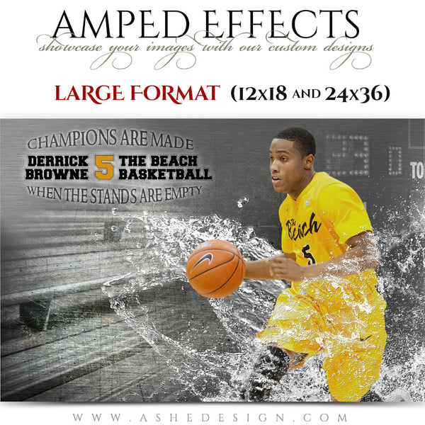 Ashe Design | Amped Effects Large Format Sports Templates | Wash Out-basketball
