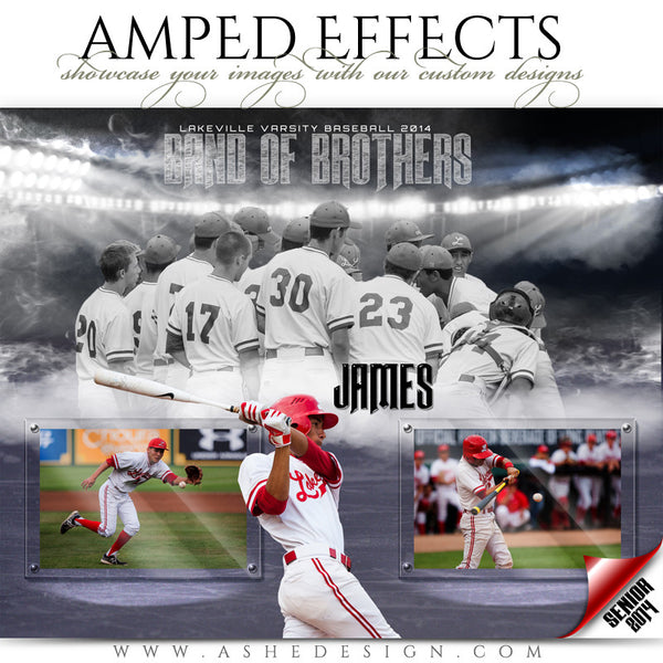 Ashe Design | Amped Effects Sports Templates | Band Together Baseball web display
