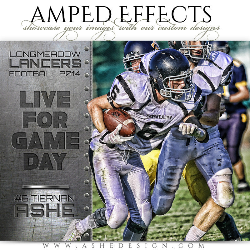 Ashe Design | Amped Effects Sports Templates | Live For Game Day football