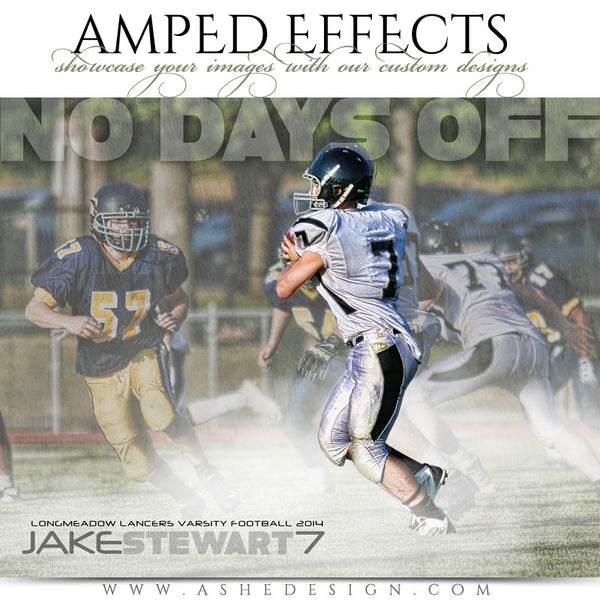 Ashe Design | Amped Effects Sports Templates | No Days Off football