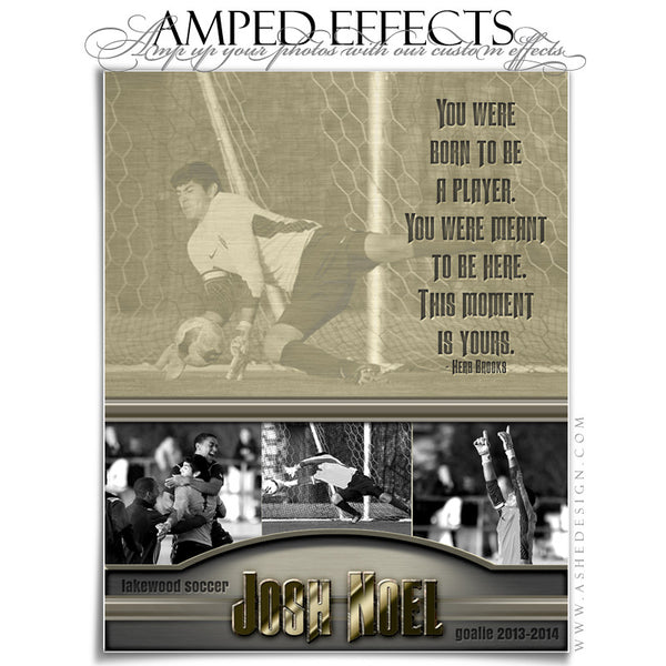 Ashe Design | Amped Effects Sports Templates | Silver And Gold soccer