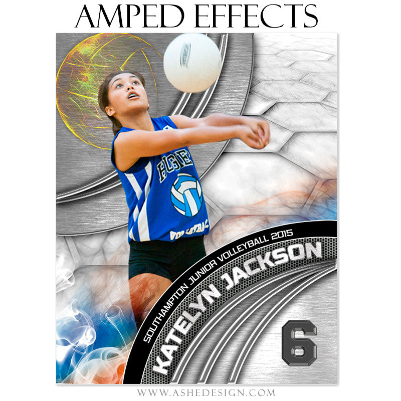Ashe Design | Amped Effects Sports Templates | Precision Performance Volleyball