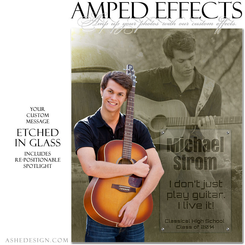 Ashe Design | Amped Effects Senior Templates | Inscription senior2 web display