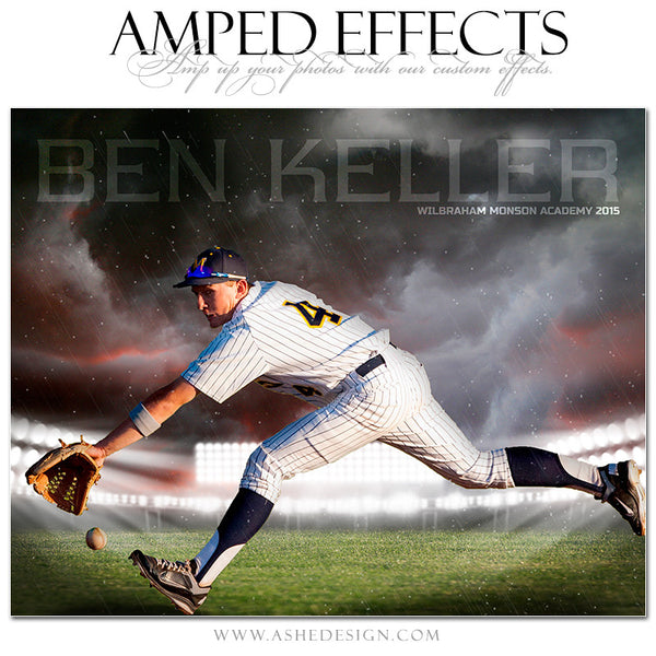 Ashe Design | Amped Effects Sports Templates | Stormy Arena baseball