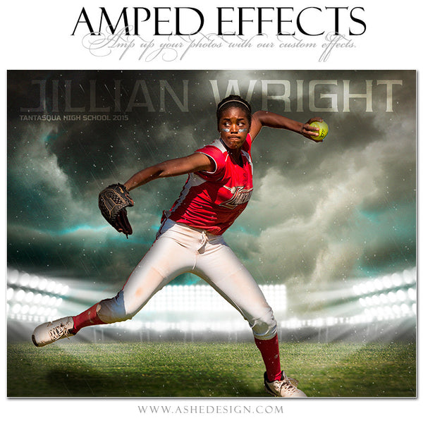 Ashe Design | Amped Effects Sports Templates | Stormy Arena softball