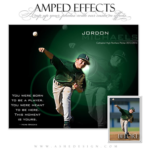 Ashe Design | Amped Effects Sports Templates | This Moment Is Yours Baseball web display