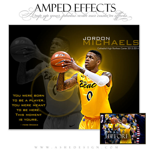Ashe Design | Amped Effects Sports Templates | This Moment Is Yours Basketball web display