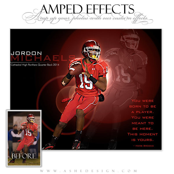 Ashe Design | Amped Effects Sports Templates | This Moment Is Yours Football web display