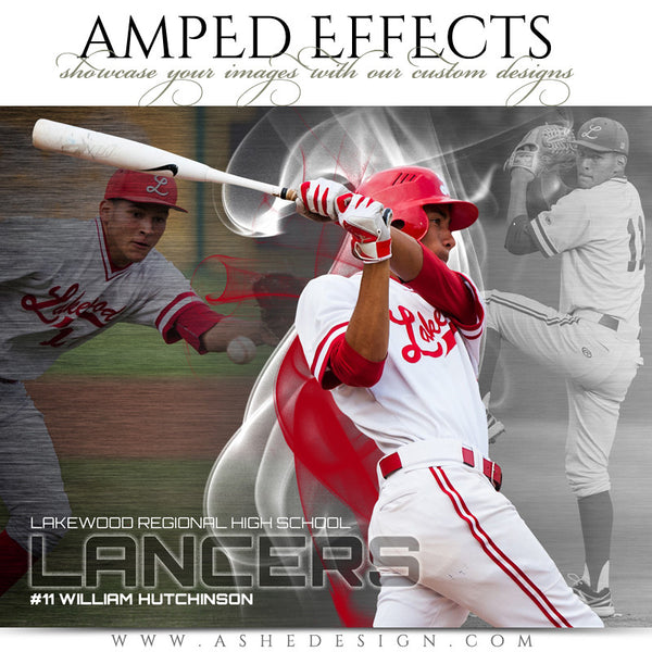 Ashe Design | Amped Effects Sports Templates | Triple Crown Example 1 Baseball web display