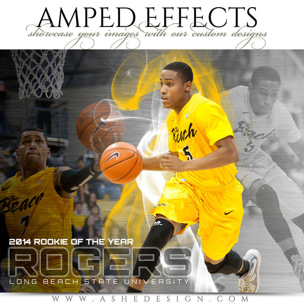 Ashe Design | Amped Effects Sports Templates | Triple Crown Example 2 Basketball web display