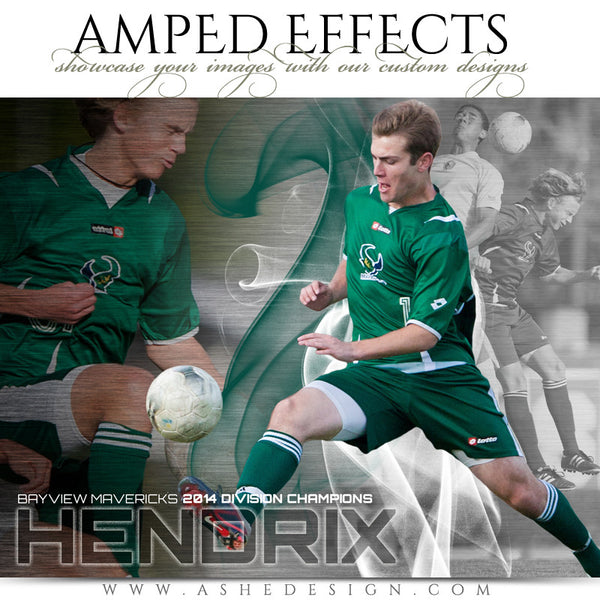 Ashe Design | Amped Effects Sports Templates | Triple Crown Example 3 Soccer web display