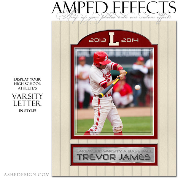 Ashe Design | Amped Effects Sports Templates | Varsity Letter 1