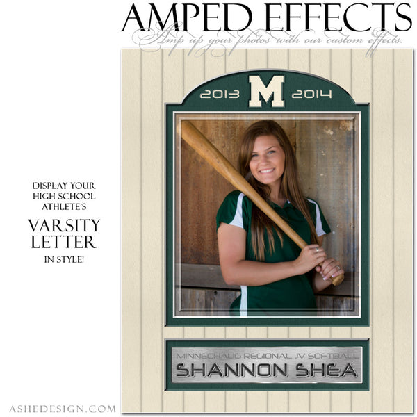 Ashe Design | Amped Effects Sports Templates | Varsity Letter 2