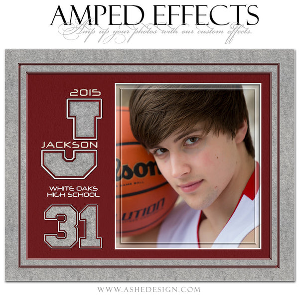 Ashe Design | Amped Effects Sports Templates | Varsity Letter Felt