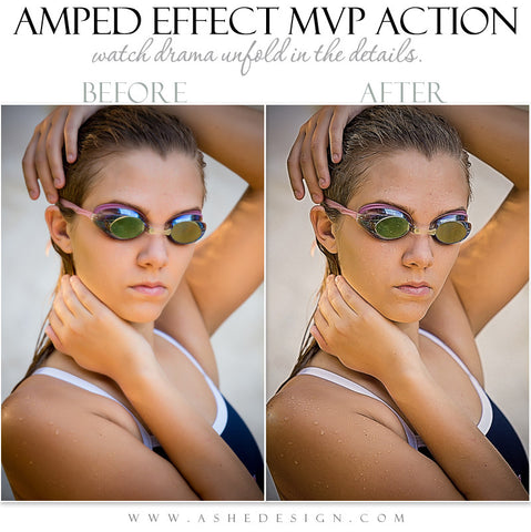 Ashe Design | Photoshop Action | Amped Effect MVP  1