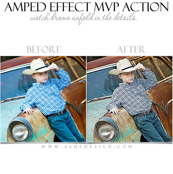 Ashe Design | Photoshop Action | Amped Effect MVP  2