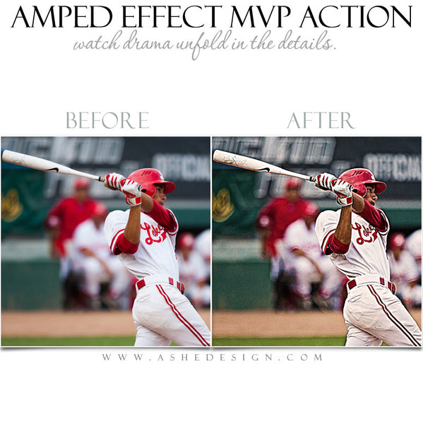Ashe Design | Photoshop Action | Amped Effect MVP  3
