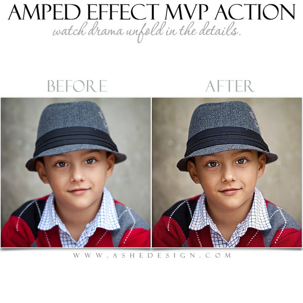 Ashe Design | Photoshop Action | Amped Effect MVP  5