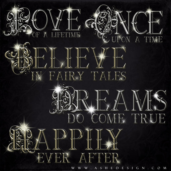 Amped Up Word Art | Once Upon A Time full set