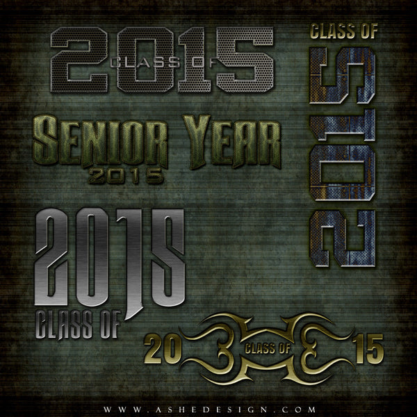 Amped Up Word Art | Senior Steel full set