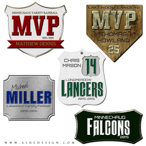 Ashe Design | Amped Up Word Art Set | Sports Shields set