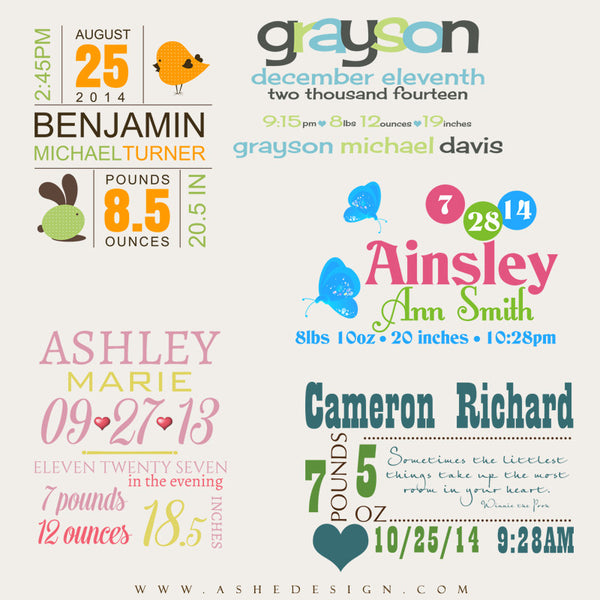 Ashe Design | Amped Up Newborn Word Art | On Baby