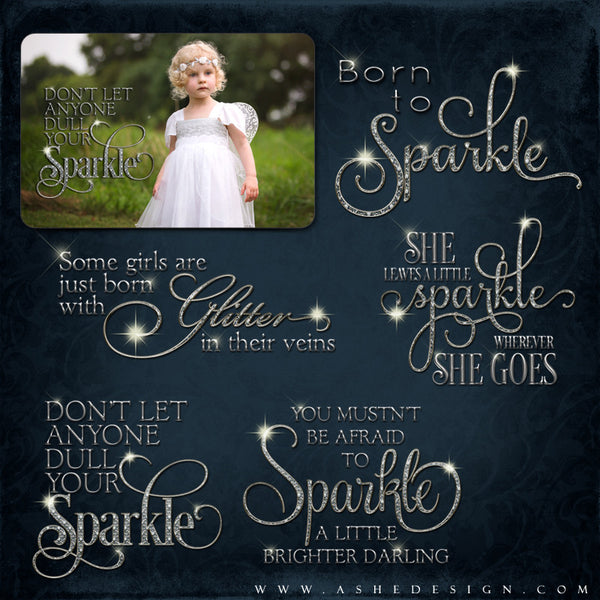 Amped Up Photoshop Word Art | Leave A Little Sparkle set