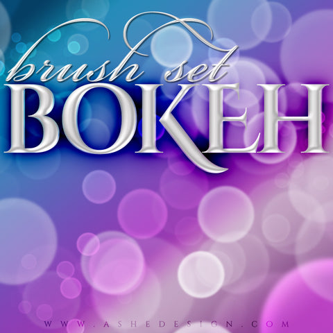 Ashe Design | Photoshop Brush Set | Bokeh Circles full set web display