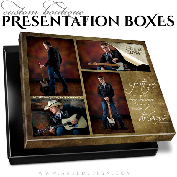 Ripped Custom Boutique Presentation Box 8x10 HZ template