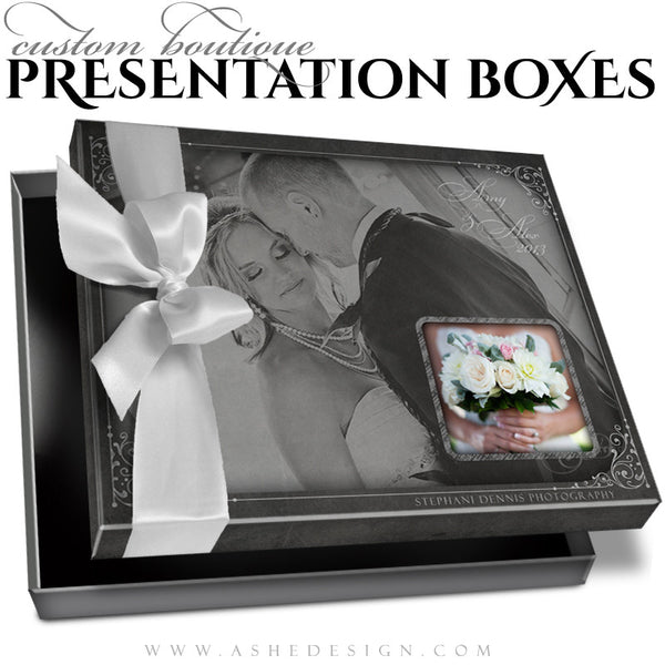 Chalkboard Custom Boutique Presentation Box 8x10 HZ template