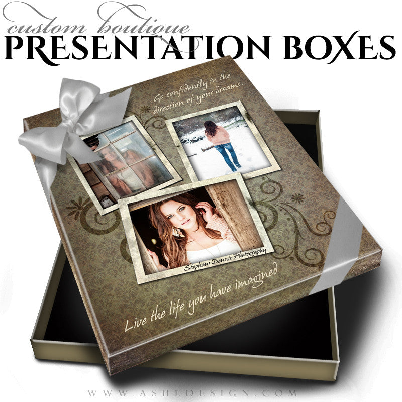 Shabby Chic Custom Boutique Presentation Box 8x10 VT template