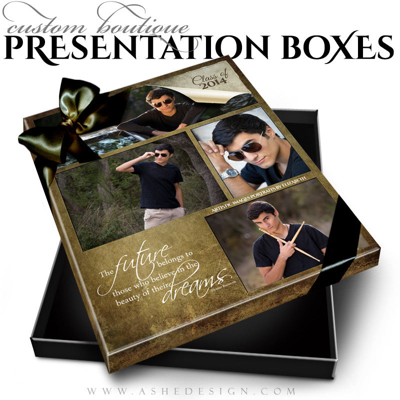 Ripped Custom Boutique Presentation Box 8x10 VT template