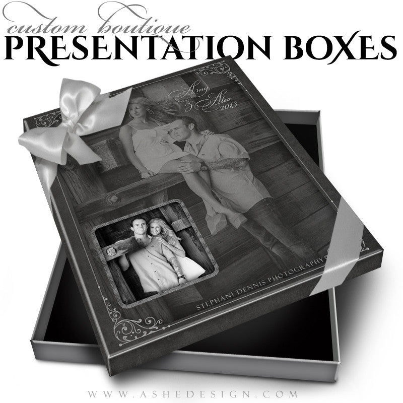 Chalkboard Custom Boutique Presentation Box 8x10 VT template
