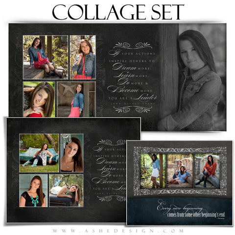 Chalkboard Senior Girl Collage Set 8x10,10x20,11x14 web display