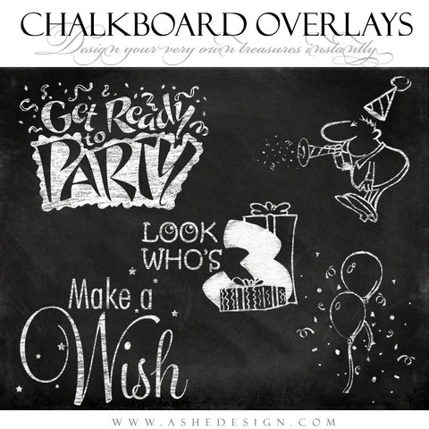 Designer Gems - Chalkboard Overlays - Party Time Full Set web display