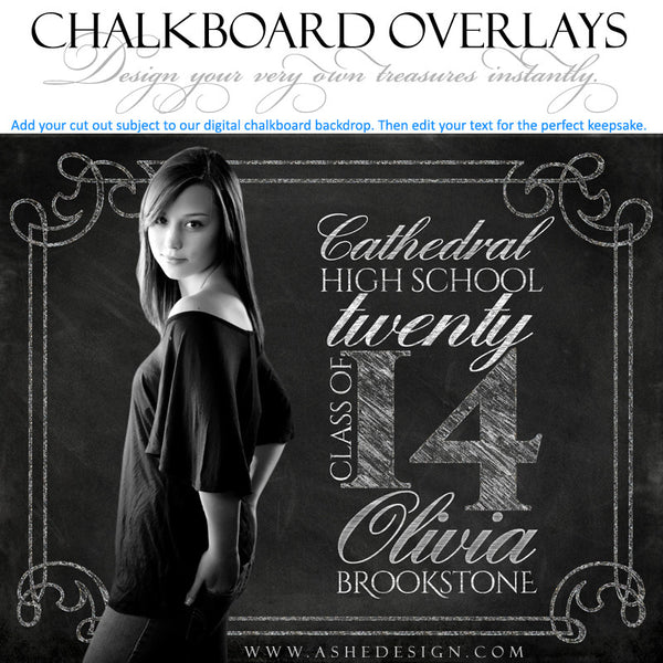 Designer Gems - Chalkboard Overlays - Seniors example 1 web display