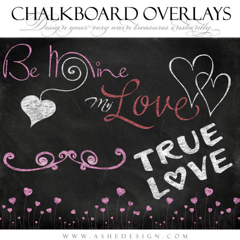 Designer Gems - Chalkboard Overlays - My Valentine full set web display