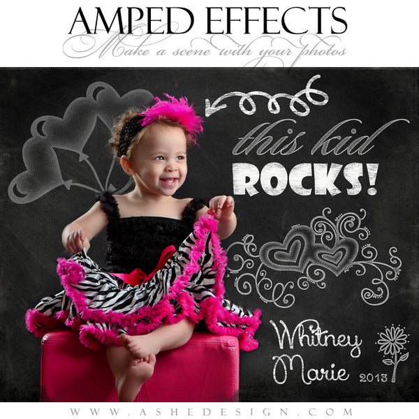 Ashe Design | Amped Effects | Chalkboard Scenes | Kid Rock Doodle example2 web display