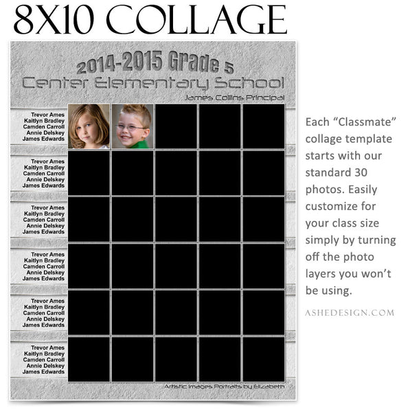 Collage Template 8x10 | Classmates B
