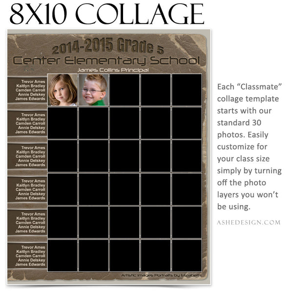 Collage Template 8x10 | Classmates C