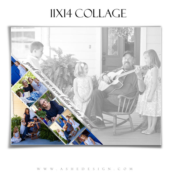 Collage Template 11x14 | Pennant