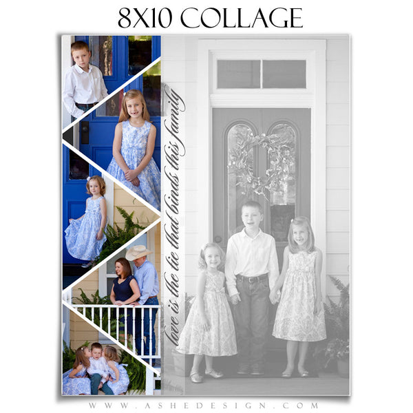 Collage Template 8x10 | Pennant